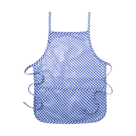 Royal Blue Check Laminated Apron