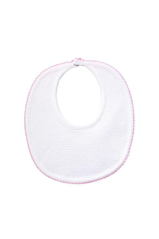 Bubble Baby Bib: White/Pink