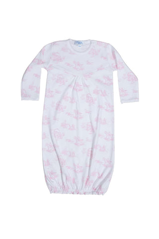 Toile Gown: Pink Teddy Bears