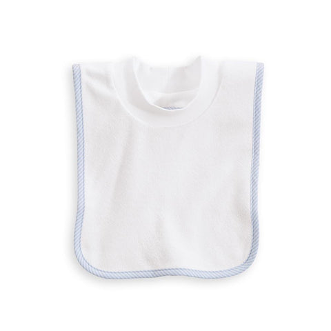 Bliss Pullover Bib: Blue Oxford Stripe