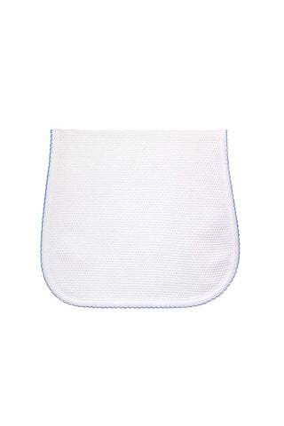 Bubble Baby Burp Cloth: White/Blue