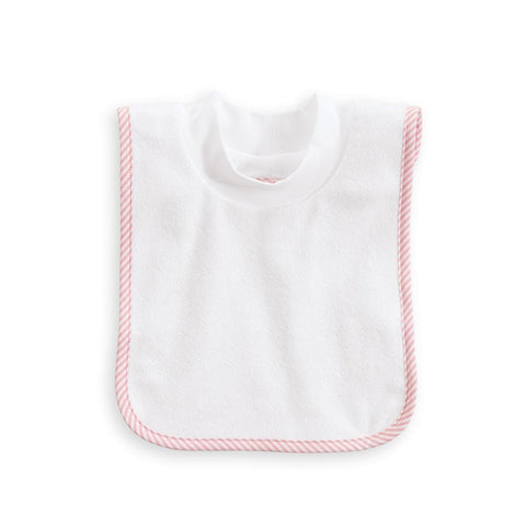 Bliss Pullover Bib: Pink Oxford Stripe