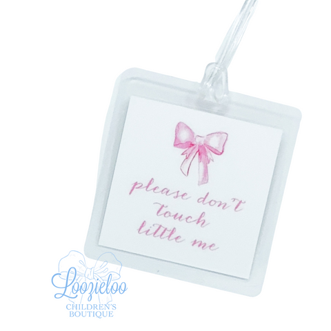 'Please Don't Touch Little Me' Tag in Pink