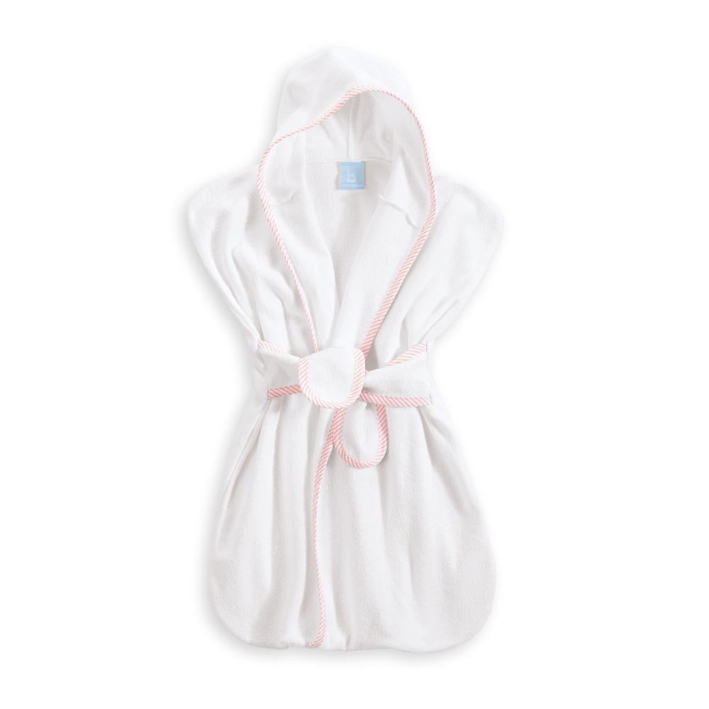 Bliss Hooded Bath Sack: Pink Oxford Stripe