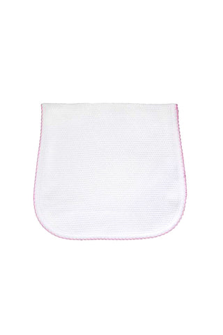 Bubble Baby Burp Cloth: White/Pink