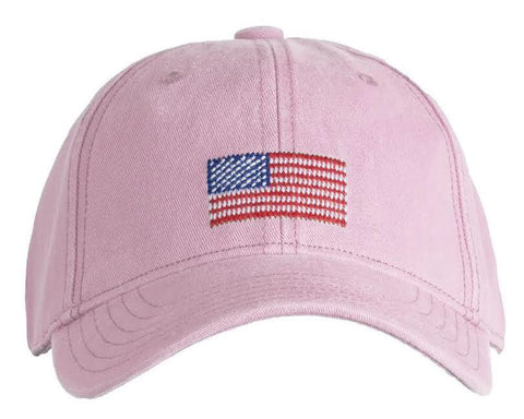 KIDS American Flag on Light Pink Hat