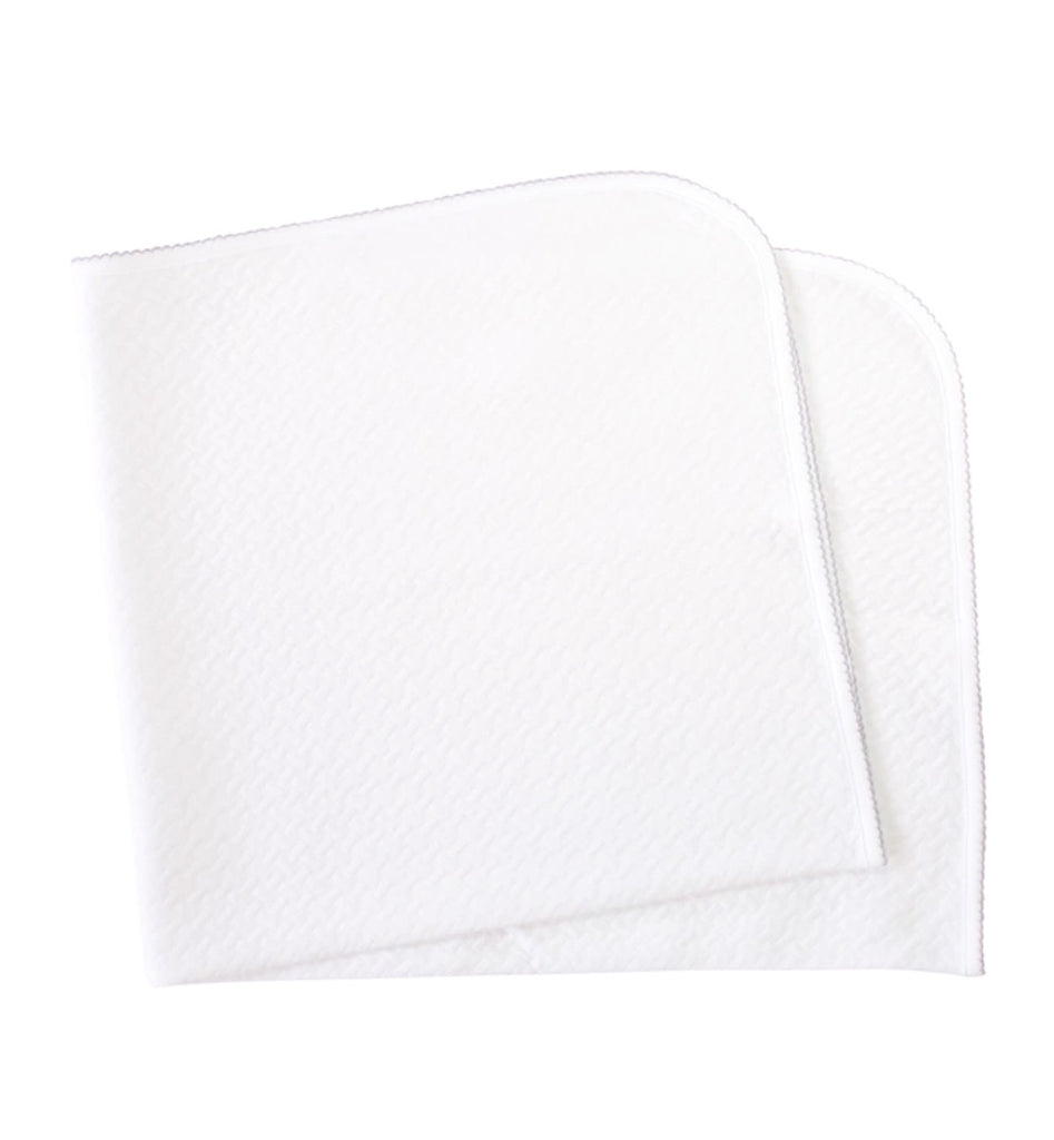 Quilted Baby Blanket: White