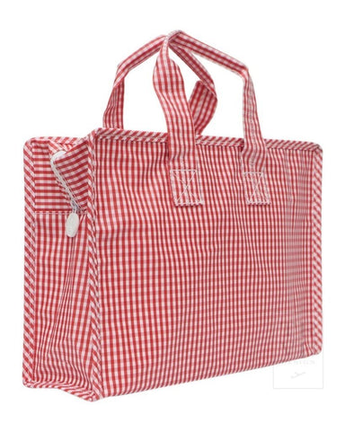 On The Go TOTE: Red Gingham