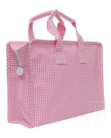 On The Go TOTE: Pink Gingham