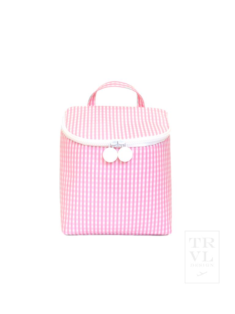 On The Go Lunch Bag: Pink Gingham