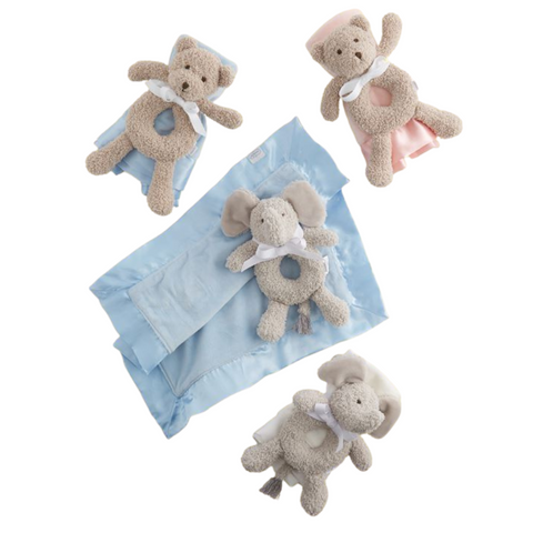 Ring Rattle & Blankie Set