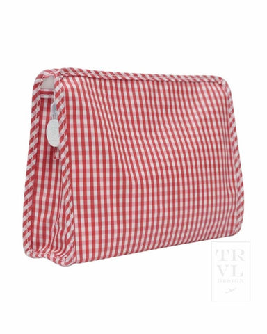 Medium Clutch: Red Gingham