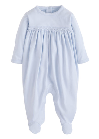 Welcome Home Layette Footie: Blue