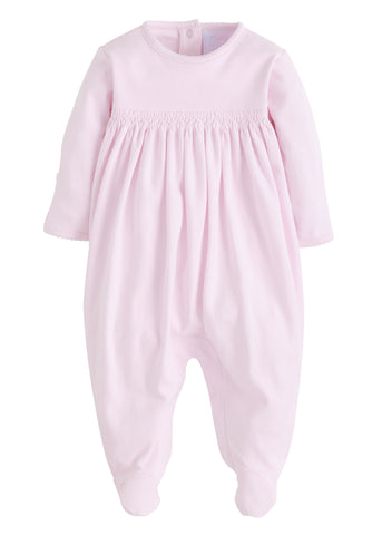 Welcome Home Layette Footie: Pink