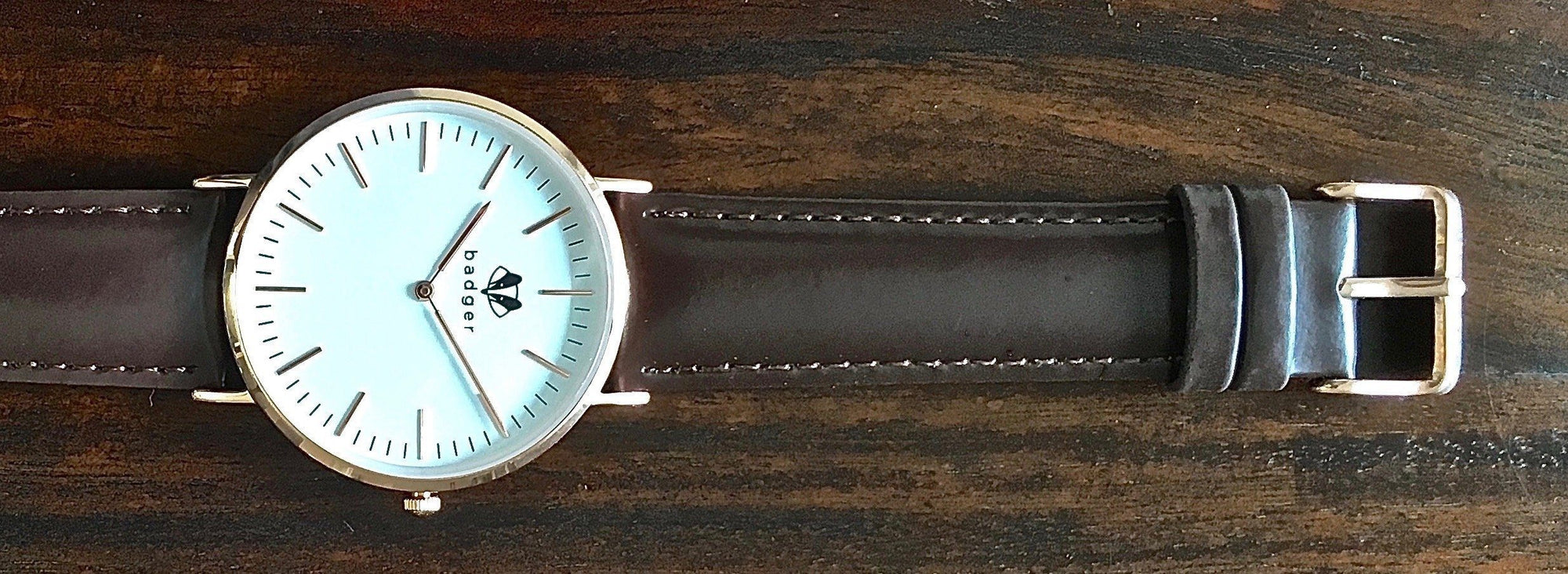 Groomsmen gifts | brown belt watch