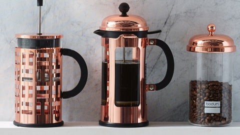 copper french press | Coffee jars and containers