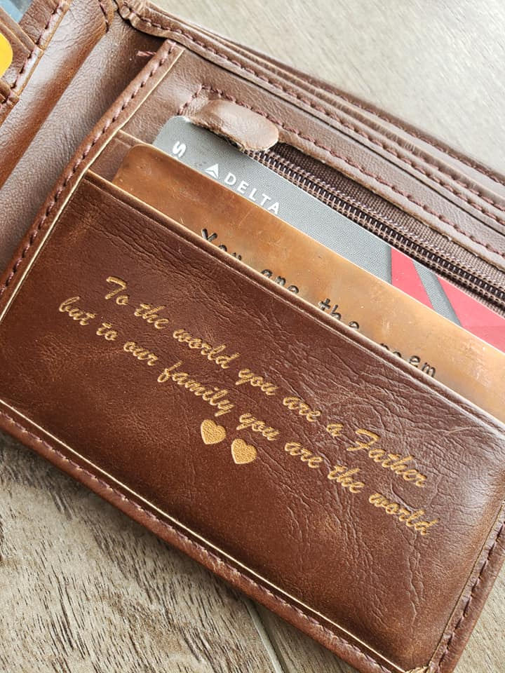 Personalized leather wallet | leather wallet