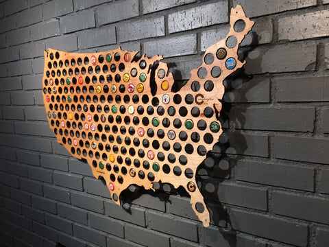 Beer Cap Map | Map of USA