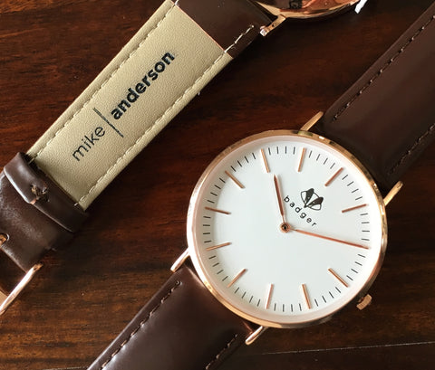 Brown belt standard watch | personalized watch with  name engraved on belts