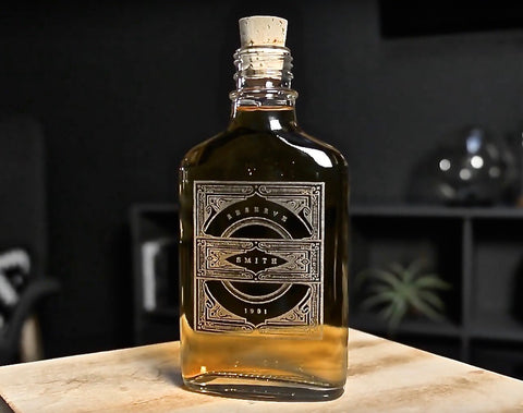 glass flask for whiskey | glass flask