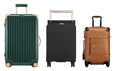 stylish suitcase | green and brown suitcases