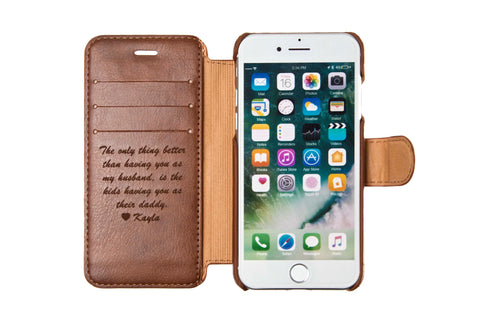 Personalized Leather Phone Wallet | phone case