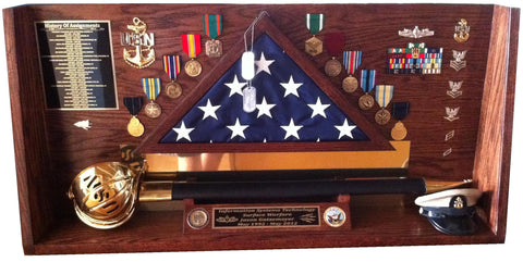 Shadow Box for military man