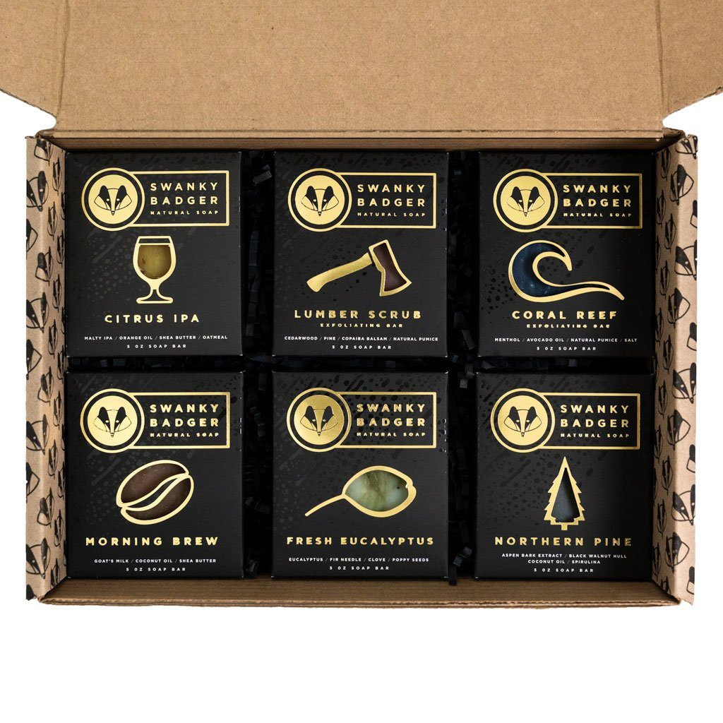 Natural Soap Gift Set (6 bars)