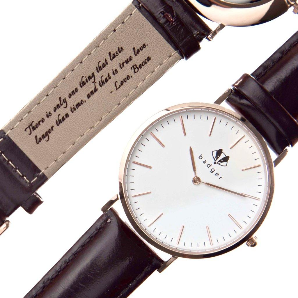Classic Rose Gold Watch: Love Note