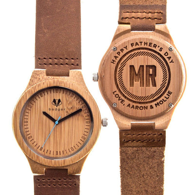 birthday gifts, bamboo watches, wooden watches, customized bamboo watch, customized birthday gifts