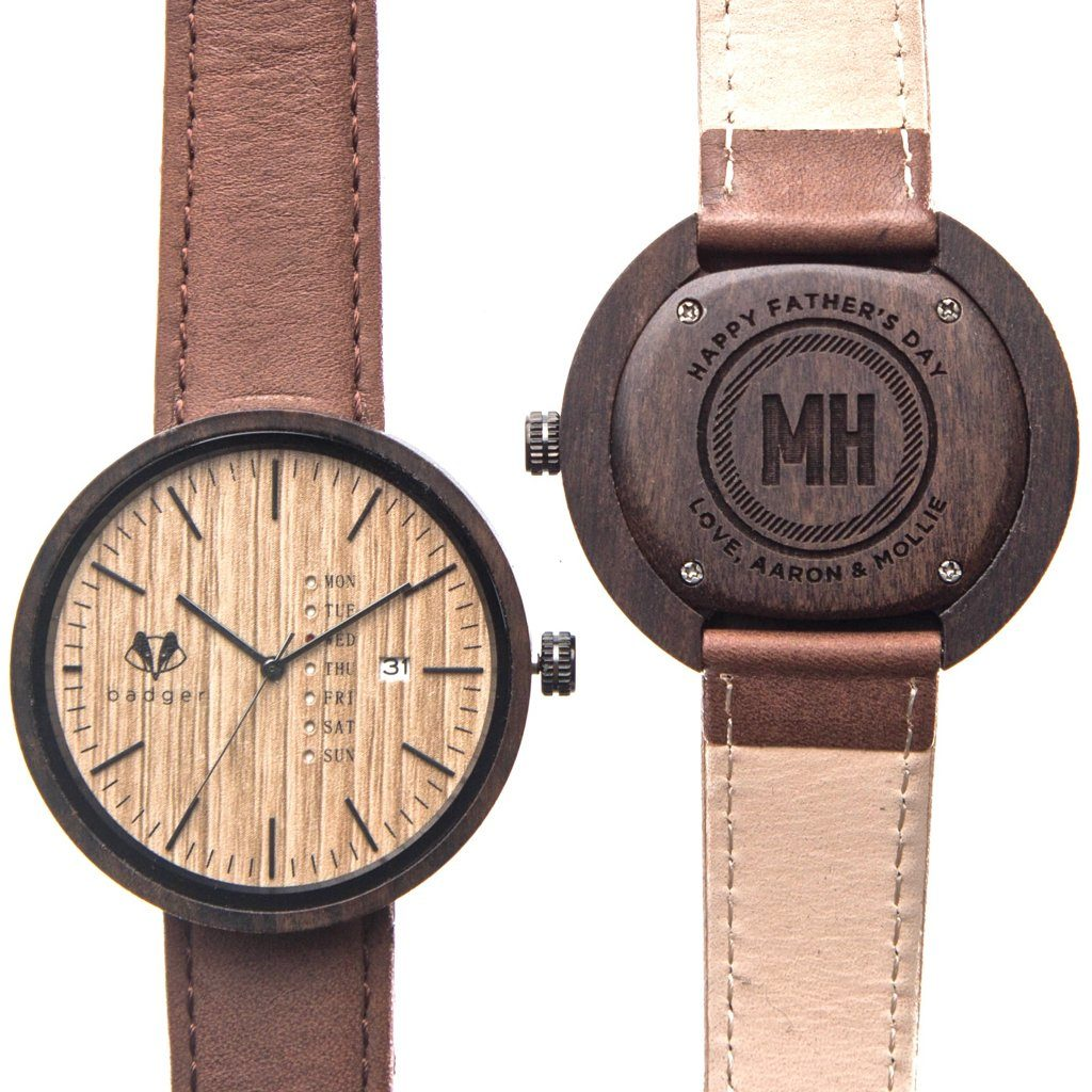 Personalized anniversary gifts, father's day gifts, personalized watches, wooden watches, sandalwood modern watch