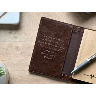 script leather journal, personalized leather journal, groomsmen gift, customizable leather journals