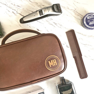 circle dopp kit, dopp kits, personalized dopp kit, customized dopp kit, personalized gift for him, personalized gift, Customized gift