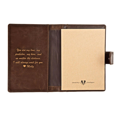 classic pocket journals, personalized leather journals, leather journals, gifts for men, mens wallet, personalized gifts