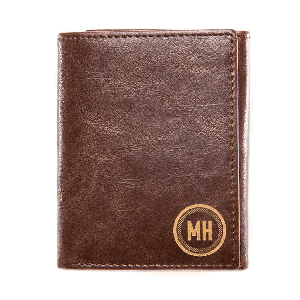 Personalized Trifold Wallet: Circle
