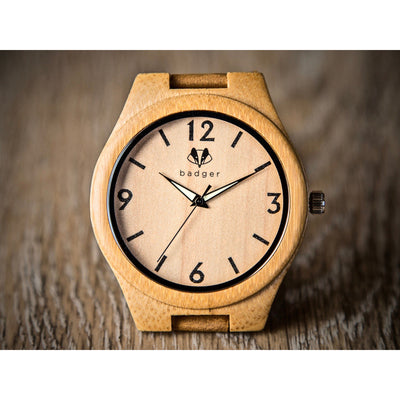 Bamboo tailored watches | customized watches | bamboo watches | unique customized watch | message engraved bamboo watch