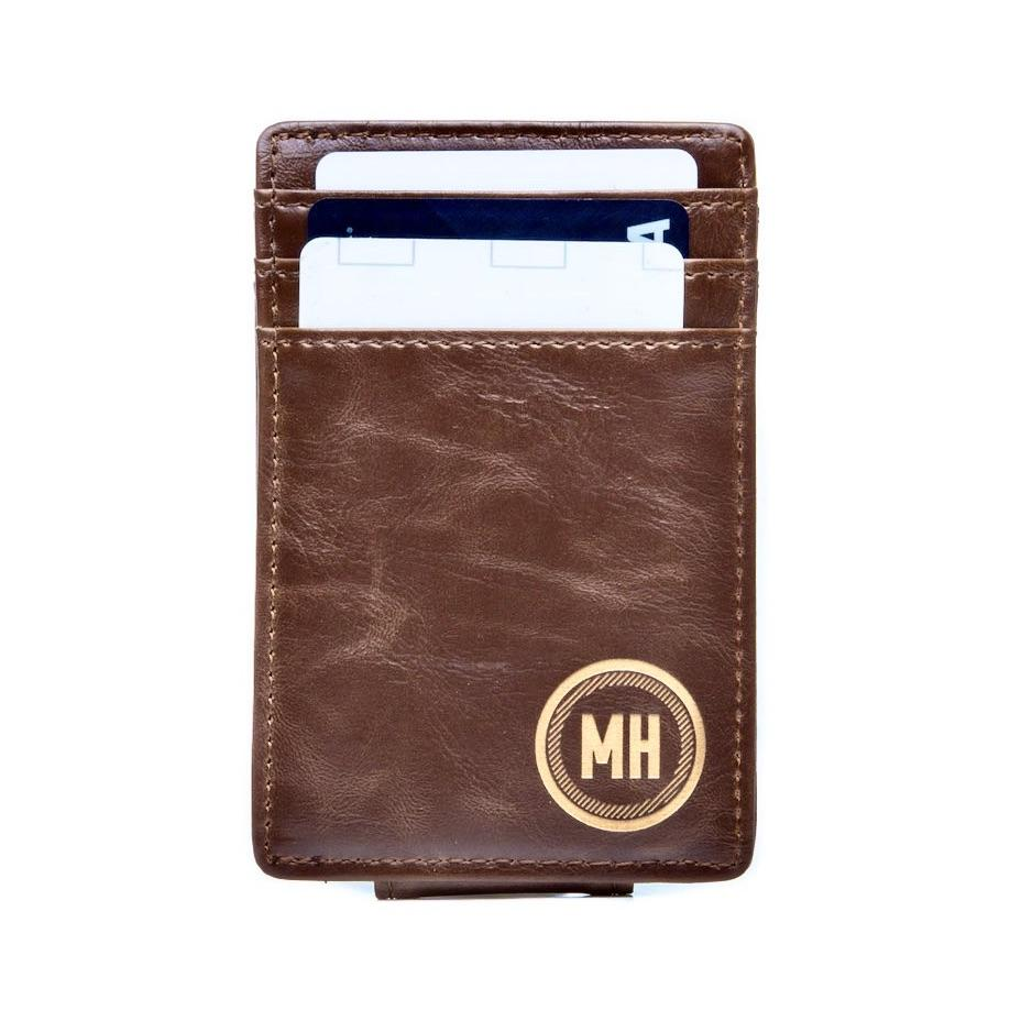 Money Clip Wallet: Circle