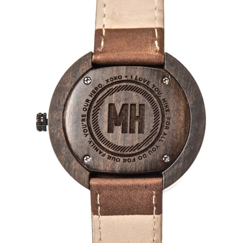 personalized watch with message | personalized watches | sandalwood modern watch | modern watch | wooden watch