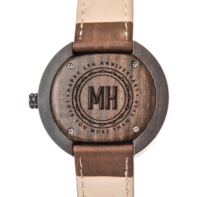 Personalized anniversary gifts | anniversary gifts | personalized watches |wooden watches | sandalwood modern watch