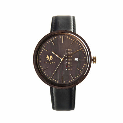 personalized watch with message engraved, personalized watch, wooden watch, black wooden personalized watch