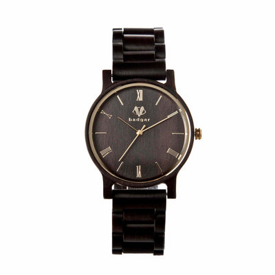 Ebony wood watches | customized watches | wooden watches | customized gift for groom | ebony link watch
