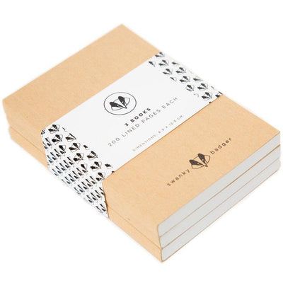 Journal Refill Pack - 3 Books (600 Pages)