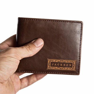 Personalized leather wallet, leather wallet for men, personalized wallet for men, men's wallets, bifold wallet, leather wallet