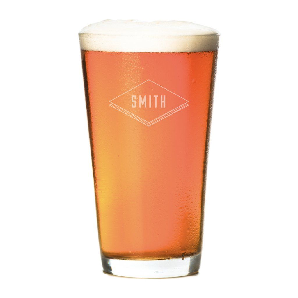 Pint Glasses - Set of 4: The Diamond