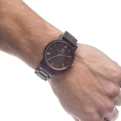 Ebony wood watches, customized watches, wooden watches, customized gift for groom, ebony link watch
