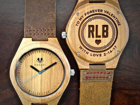 valentine gifts | bamboo watches | wooden watches | customized bamboo watch | customized valentine gifts