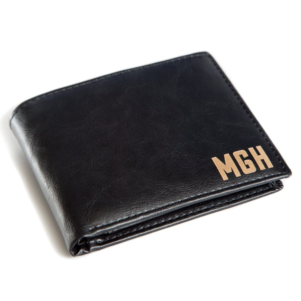 191b9f76800c Personalized Leather Wallet - Modern