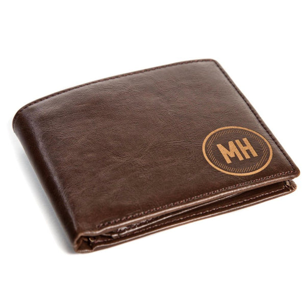Personalized Leather Wallet - Circle | Swanky