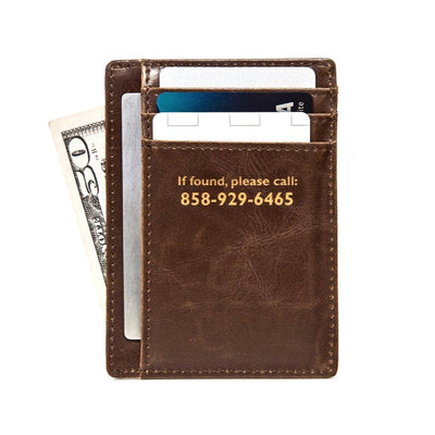 Personalized Pocket Wallet, Pocket Wallet Number, Leather Pocket Wallet