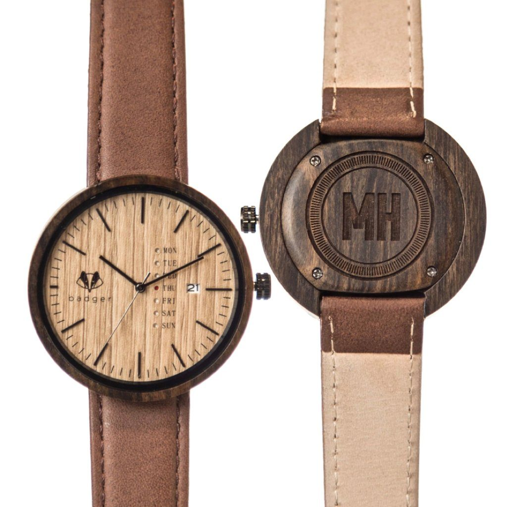 Sandalwood Modern Watch - Initials